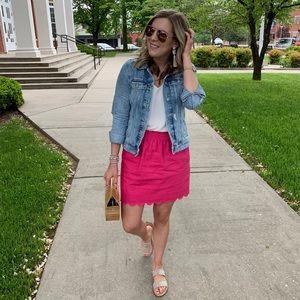 J. Crew Factory scalloped sidewalk skirt